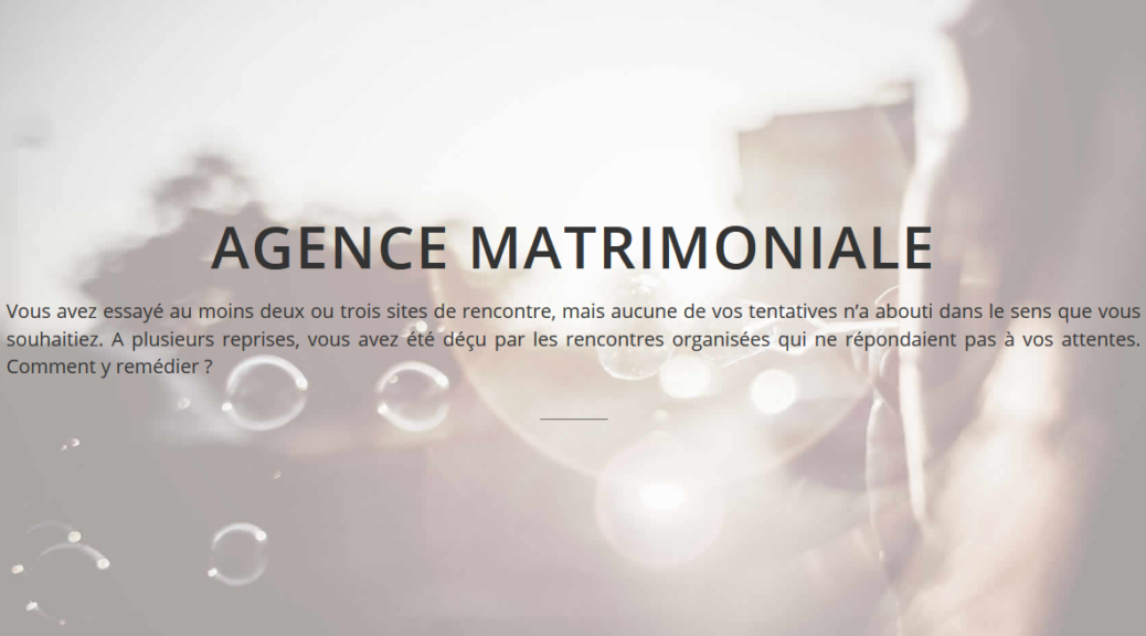 Agence matrimonial perigueux